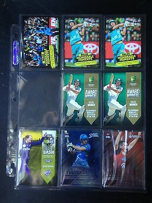 2016/17 Tap N Play BBL Cricket inserts YS, MM, AW