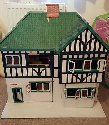 vintage hand made dolls house for project and furniture