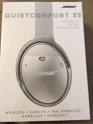 Bose QC35 Argento Wireless Noise Cancelling Ultimo Modello Nuove Sigillate