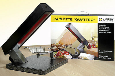 Raclette quattro for 1/4 raclette cheese. 220V. A top Boska Holland Product.
