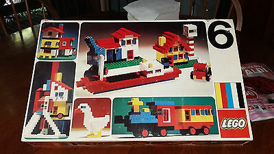 Vintage 1973 Lego Made in Denmark Original Box Approx 300 Pieces Number Six B