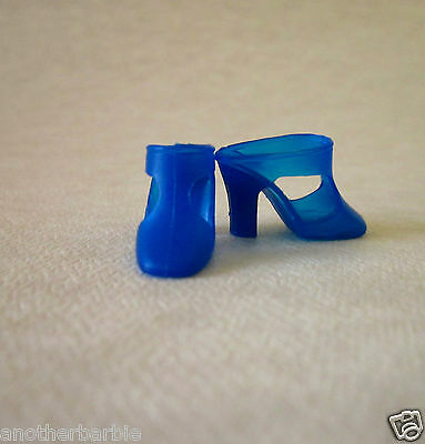 Vintage Barbie Royal Blue Squishy T-Strap Shoes (1970) Sears #1510 Glamour Group