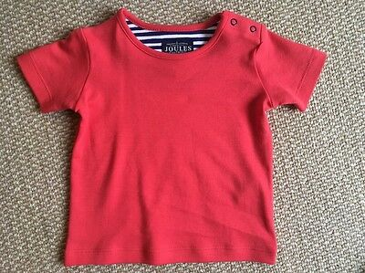 Joules Baby 3-6 Months Red T-shirt **BRAND NEW**