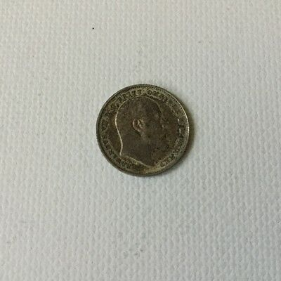 Sterling Silver 1903 3d coin Edward 7th
