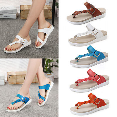Women New Casual Summer Sandals Fashion Beach Slippers Flip Flops T-Strap Shoes