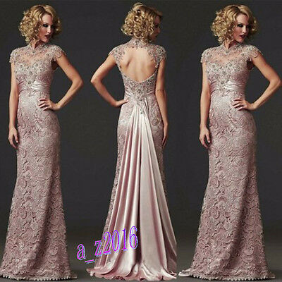 New Long Lace Cocktail Prom Gown Formal Party Bridesmaid Wedding Evening Dresses