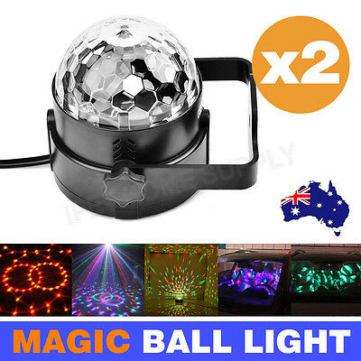 AU RGB DJ LED Effect Light Laser Crystal Magic Ball Disco Party Lamp