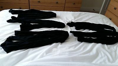 5 pairs of black opaque tights
