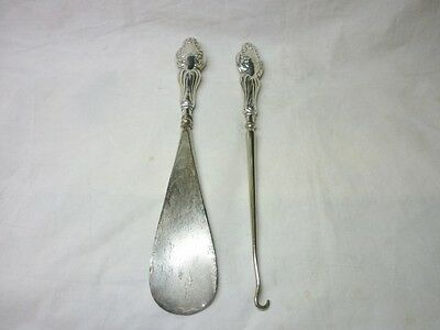 Vintage Silver(handles only) Shoe Horn and Button Hook