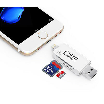 USB i-Flash Drive Micro SD TF Stick Card Reader Adapter for iPhone 7 6s 6 Plus 5