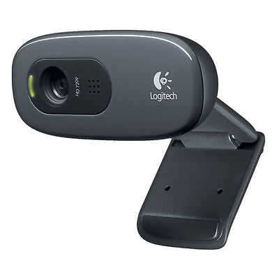 Logitech C270 Webcam HD 720p 1280x720 Video Calling 3MP Clip On USB