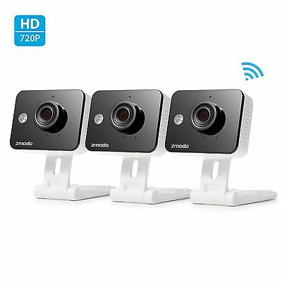 Zmodo 720p HD IP Indoor Wireless Security Camera 2-Way Audio Connected (3-Pack)