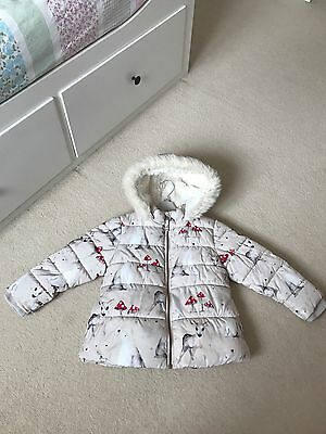 Girls Next Woodland Coat Age 4-5-excellent Condition!