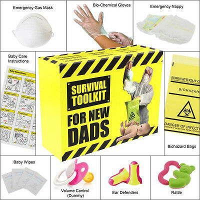 NEW DADS SURVIVAL TOOLKIT Novelty Funny DAD TO BE Gift For Daddy