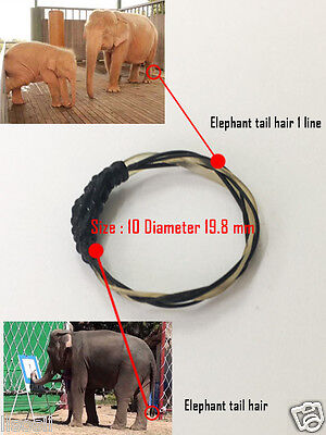 handmade ring  white And black elephant tail hair fashion and protect