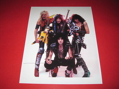 W.A.S.P WASP BLACKIE LAWLESS  10x8 inch lab-printed photo P/8303