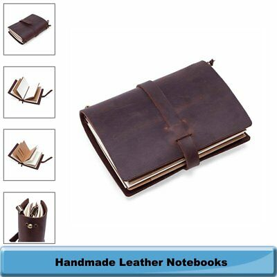 Bound Cover Notebooks Journals Travel Diaries Gift Book Handmade Real Leather