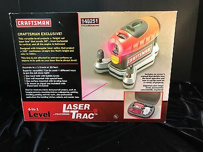 NEW Craftsman level, 4-in-1 Laser Trac #948251, never used, in original box