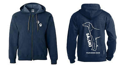 Saluki Full Zipped Dog Breed Hoodie, Exclusive Dogeria Design,