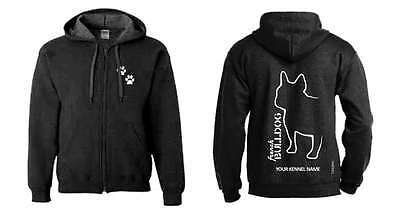 French Bulldog Dog Breed Hoodie, Exclusive Dogeria Breed Design, Men's & Ladies