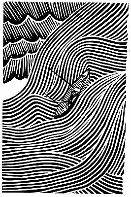 Stanley Donwood Art Black White Canvas Wall A2 A1 A0 Large Gift Present OC0219