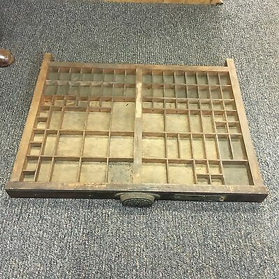 Vintage M & W Mfg. Co. Printers Type Set Case Tray Shadow Box