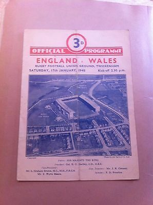 England v Wales 5 Nations 1948 Autographed