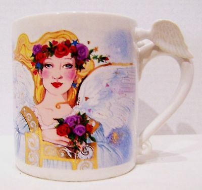 Avon Angel Inspirational Saying white with gold accents Mug