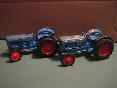 Crescent Toy Co.Uk. Blue vintage toy tractor.  Made in England. Fordson. Ford.
