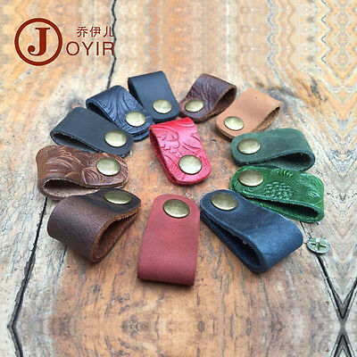 Handmade Leather Earphone Headphone Cable Cord Holder Wrap Winder Multi-color