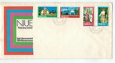 1974  Niue  Self Government Stamp Issue  FDC