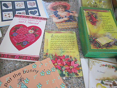 BIG Lot of Old Greeting Cards & Boxes Approx 149
