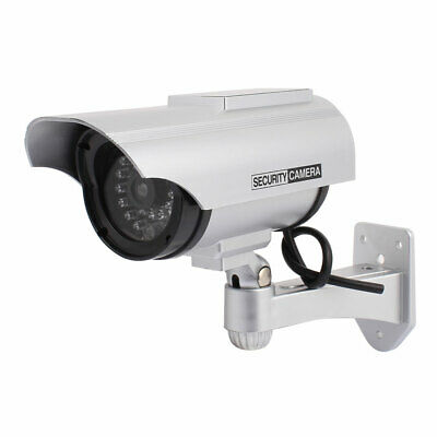 Fake Dummy Security Camara LED Blinking Light Solar Powered Outdoor Indoor
