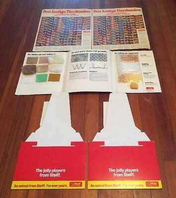 Lot of Assorted Steiff Dealer Sales Promotional Posters Display Stands + More