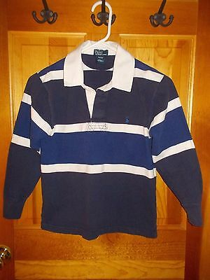 RALPH LAUREN POLO Rugby Shirt Boys S SMALL 8/10 Gently Used Condition!