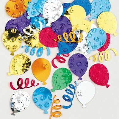 Multicoloured Balloons Party Embossed Metallic Confetti Table Sprinkles