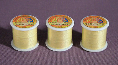 Kevlar Sewing Thread 3 x 50m reels, Tex-40 Very Strong, high temperature