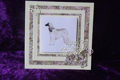 Afghan Hound Blank Greeting Card Handcrafted by Curiosity Crafts