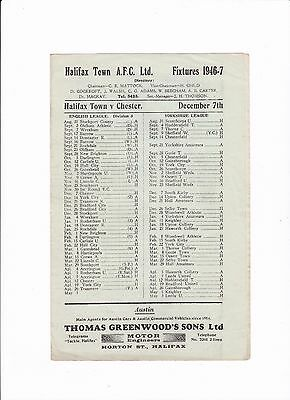 1946/47 Halifax Town v Chester City (Division 3 North)