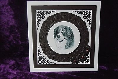 Bernese Mountain Dog Blank Greeting Card Handcrafted by Curiosity Crafts