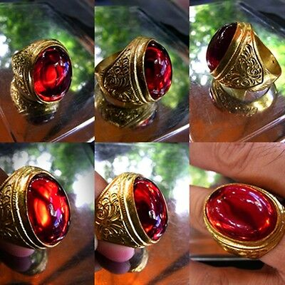 Thai amulet ring NAGA holy powerful love lucky charm talisman accessories size11