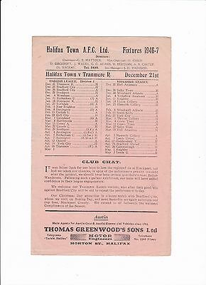 1946/47 Halifax Town v Tranmere Rovers (Division 3 North)