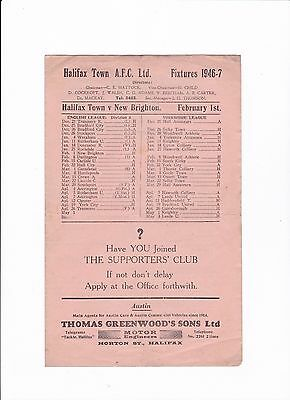 1946/47 Halifax Town v New Brighton - (Division 3 North)