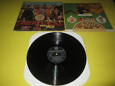 Beatles:sgt.pepper's  Parlophon Pmcq 31512  Gf Lam. Inserto Vg / Vg 1St Or 1967