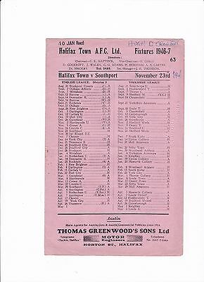 1946/47 Halifax Town v Southport (Division 3 North)