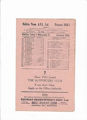 1946/47 Halifax Town v Doncaster Rovers - (Division 3 North)
