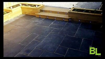 Premium Kota Black Indian Limestone Paving Slabs | Garden | Patio | 18m2 Pack