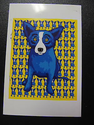 Art Exhibition Gallery Invitation Card George Rodrigue Louisiana Blue Dog 2009