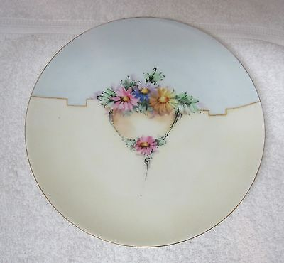 """Vintage Hand Painted Plate Colorful Daisies Deco Cottage 7 1/2"""" Bavaria"""
