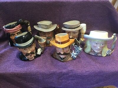 full set off Royal Doulton The wild west jugs
